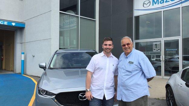Félicitations Monsieur Lord pour votre nouvelle Mazda CX5 2017