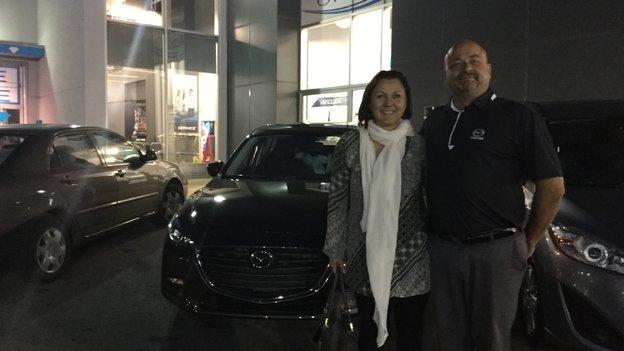 Félicitations Mme Charest pour votre nouvelle Mazda 32017