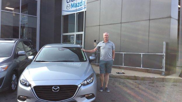 Félicitations Monsieur Ouellet pour votre nouvelle Mazda 2017