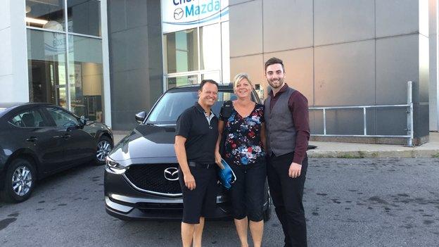 Félicitations Madame Chapdelaine pour votre nouvelle Mazda CX5 2017