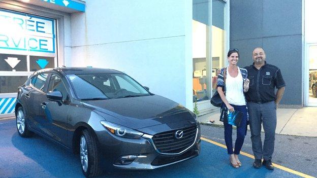 Félicitations Madame Brunelle pour votre nouvelle Mazda 3 2017