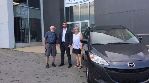 Félicitations M. Benoît Joseph pour votre nouvelle Mazda 5 2017