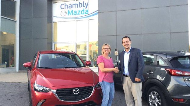 Félicitations Madame Tremblay pour votre nouvelle Mazda 3 2017
