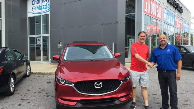 Congratulation Mrs Hébert et Mr Losier for your new Mazda CX5 2017