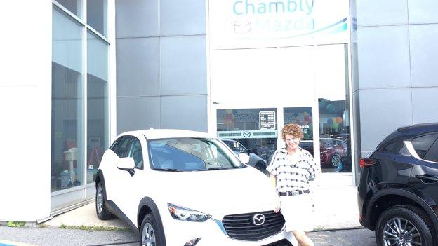 Félicitations Mme Hovington pour votre nouvelle Mazda CX3 2017
