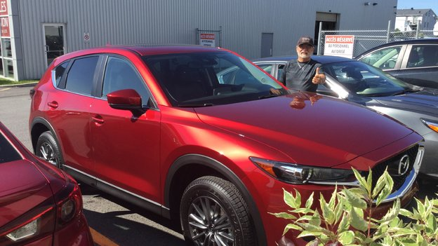 Félicitations M. Beaudry pour votre nouvelle Mazda CX5 2017