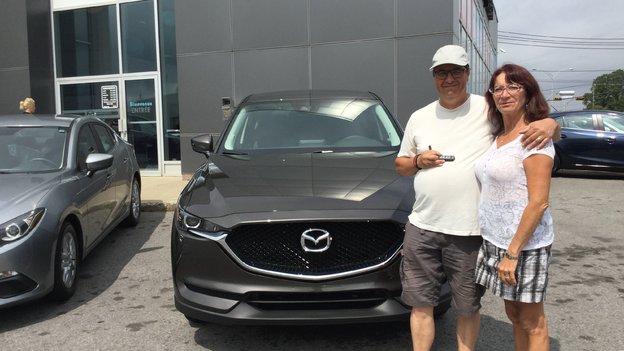 Félicitations Monsieur Turgeon pour votre nouvelle Mazda CX5 2017