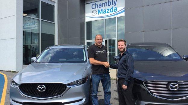 Félicitations Monsieur Villeneuve pour votre nouvelle Mazda CX5 2017