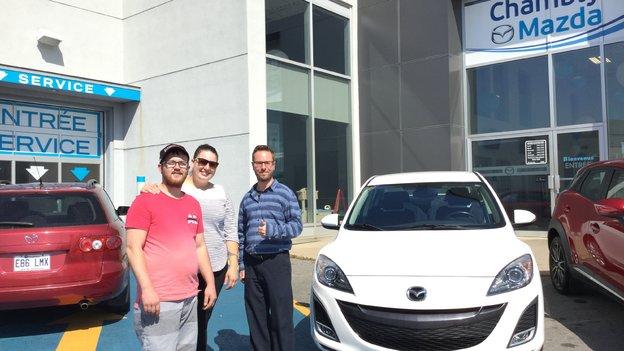 Merci de faire confiance à Chambly Mazda et bonne route avec votre Mazda 3