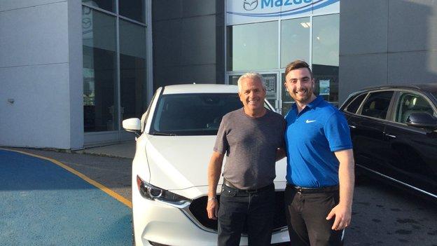 Félicitations Monsieur Bouchard pour votre nouvelle Mazda CX5 2017