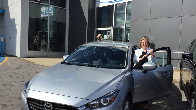 Félicitations Madame Jodoin pour votre nouvelle Mazda 3 2017