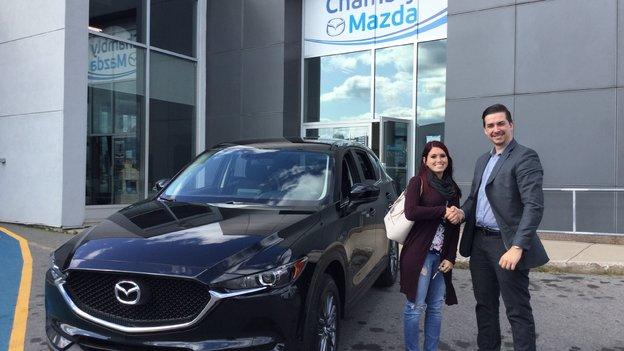 Félicitations Madame Durocher pour votre nouvelle Mazda CX5 2017