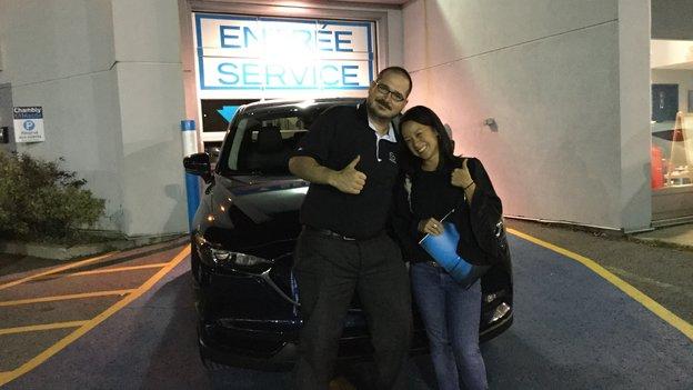 Félicitations Madame NG Cheonggyecheon Ton pour votre nouvelle Mazda CX5 2017