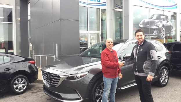 Félicitations M. Faghali pour votre nouvelle Mazda CX9 2017