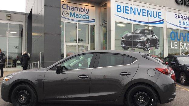 Félicitations Monsieur Morier pour votre nouvelle Mazda 3 GT 2018