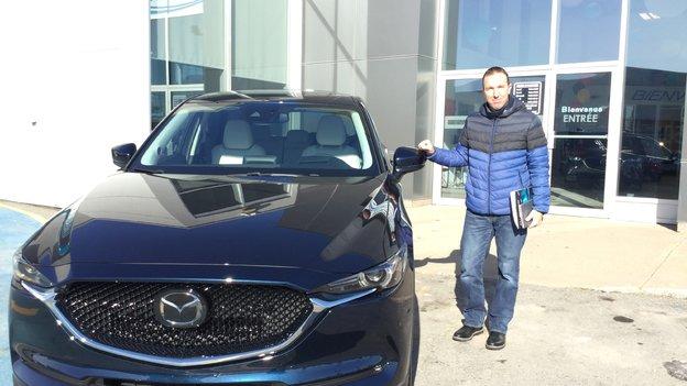 Félicitations Monsieur Deschênes pour votre nouvelle Mazda Cx5 2018