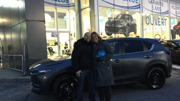 Félicitations Madame Marie Eve Dubois pour votre nouvelle Mazda CX5 2017