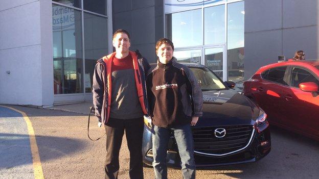 Félicitations Monsieur Provost et Madame Gauthier pour votre nouvelle Mazda 3 2018