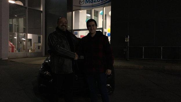 Félicitations M. Montes pour votre nouvelle Mazda 3