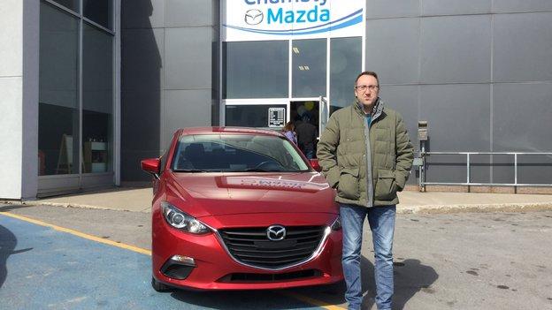 Félicitations Monsieur Kouriles pour votre nouvelle Mazda 3