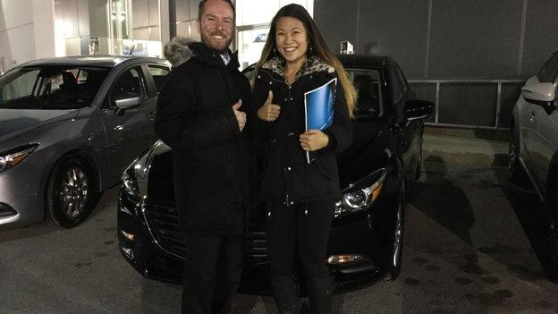 Félicitations à Madame Tammie De Villers pour votre nouvelle Mazda 3 2018