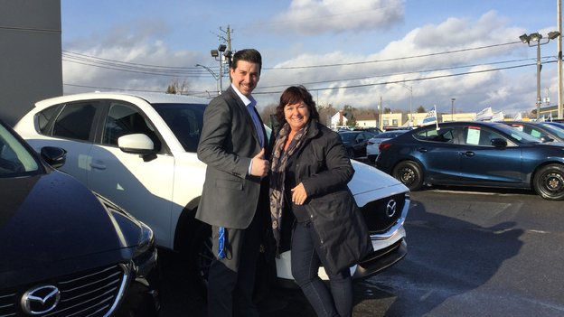 Félicitations Madame Plante pour votre nouvelle Mazda CX5 2018