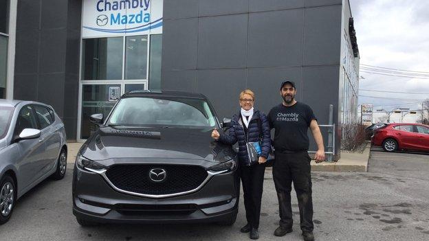 Félicitations à Madame Gauvin Scott pour son Mazda CX5 GT 2018