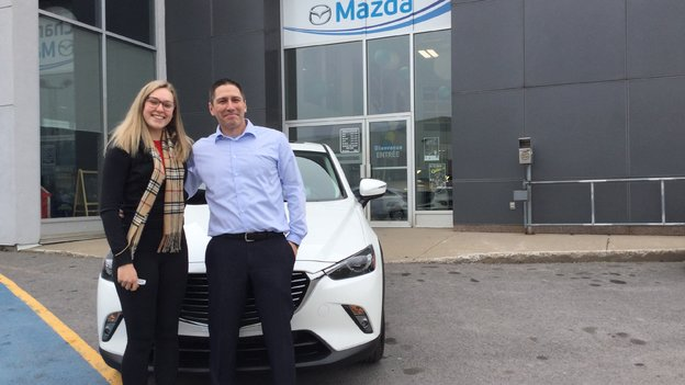 Congratulations Mrs Efford for your new Mazda CX3 GT 2018
