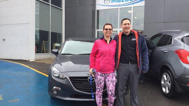 Félicitations Mme Sorel pour votre Mazda 3