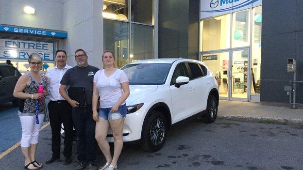 Félicitations à M. Destradeur et Mme Trudel pour votre nouvelle Mazda CX5 2018