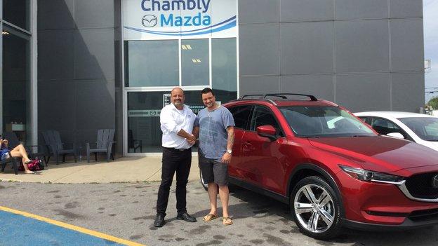 Félicitations à Monsieur Brodeur pour votre nouveau Mazda CX5 2018
