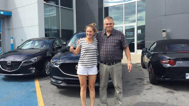 Félicitations à Madame Vouligny pour l'acquisition de sa nouvelle Mazda CX5 2018