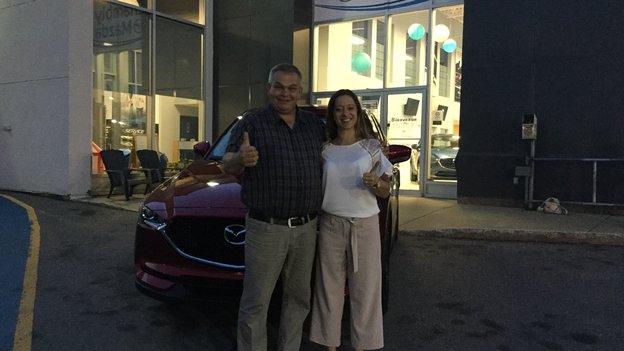 Félicitations à Madame Ostiguy pour sont nouveau Mazda CX5