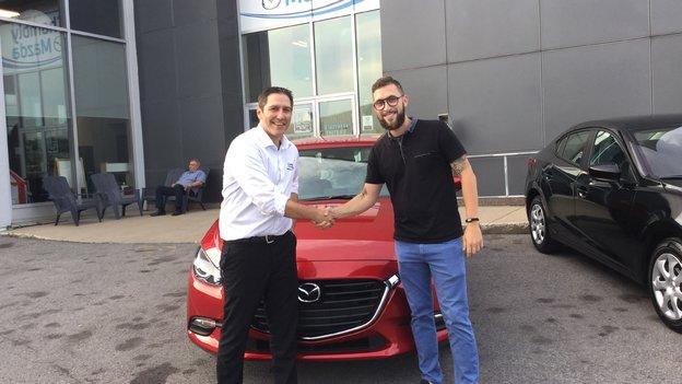 Félicitations à Monsieur Gladu pour sa nouvelle Mazda 3 2018