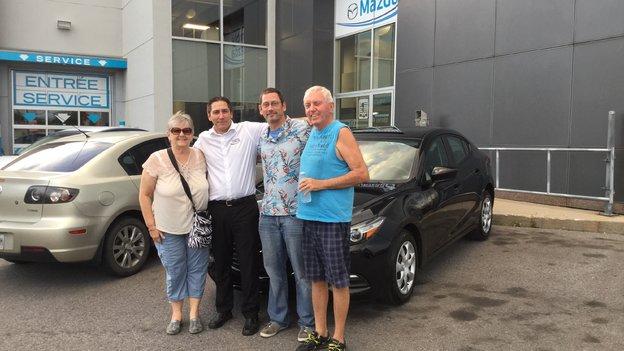 Félicitations à Monsieur Devoyault pour votre nouvelle Mazda 3 2018
