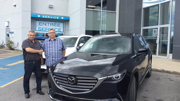 Félicitations à Monsieur Fournier pour son nouveau Mazda CX-9 2018