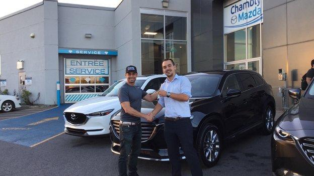 Félicitations Monsieur Canty pour votre Mazda CX-9 2016