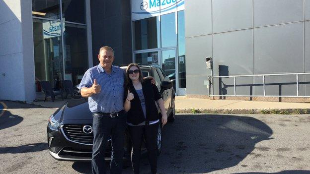 Félicitations à Sophie Claude pour sa Mazda CX3