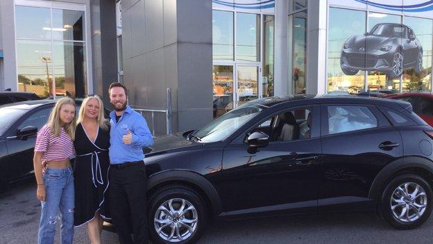 Félicitations Mme Drolet pour votre nouvelle Mazda cx-3 2019