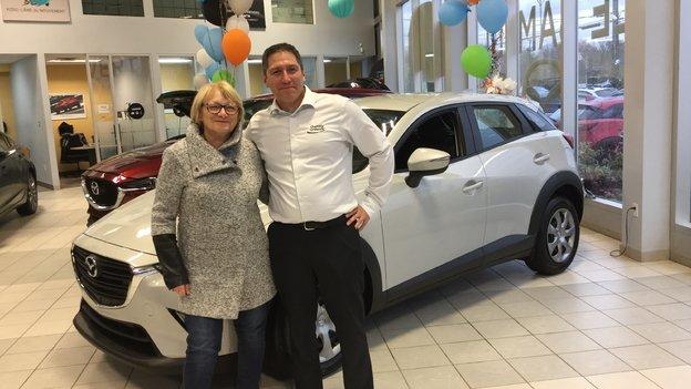 Félicitations madame Vallée pour votre nouvelle voiture CX3 2019