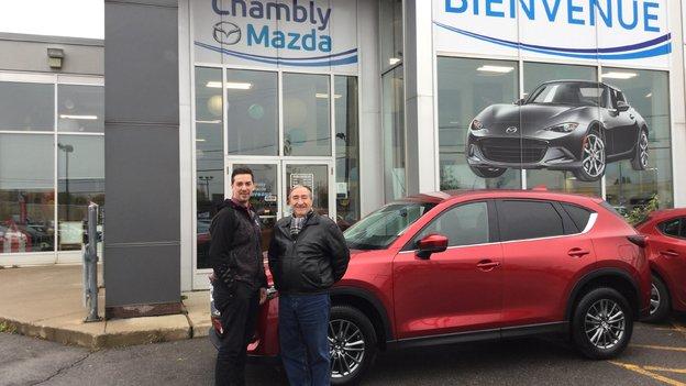 Félicitations Monsieur Gauthier pour votre nouvelle Mazda CX5