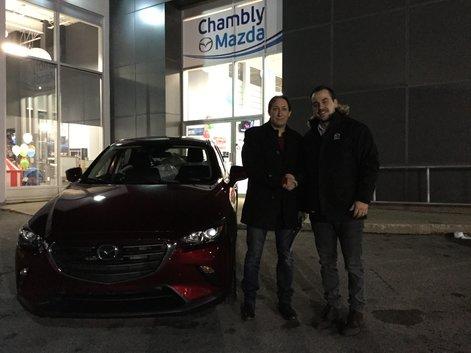 Félicitations à M. Leith pour sa nouvelle Mazda CX3