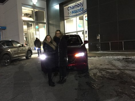 Congratulations to Karine Blais for her new 2018 Mazda CX-5
