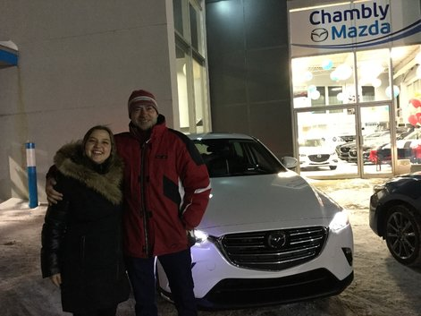 Congratulations to Mr. Marchand for his new 2019 Mazda CX-3