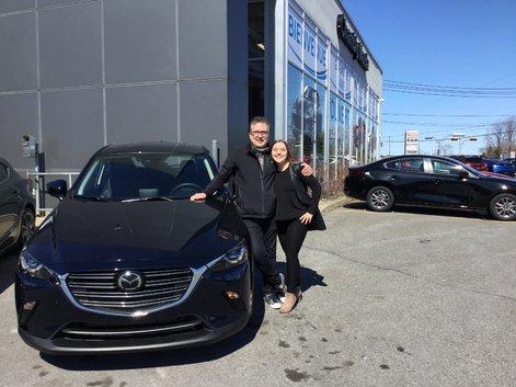 Félicitations à M. Leblanc pour votre nouvelle Mazda CX3 2019