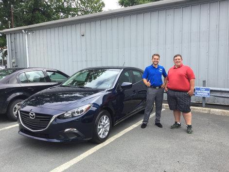 Adam picking up his NEW Mazda 3 Sport!