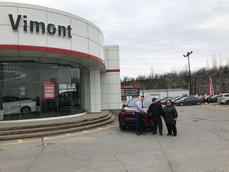 Un énorme merci à Vimont Toyota