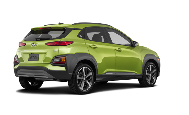 2019 Hyundai Kona ULTIMATE Black with Lime Trim