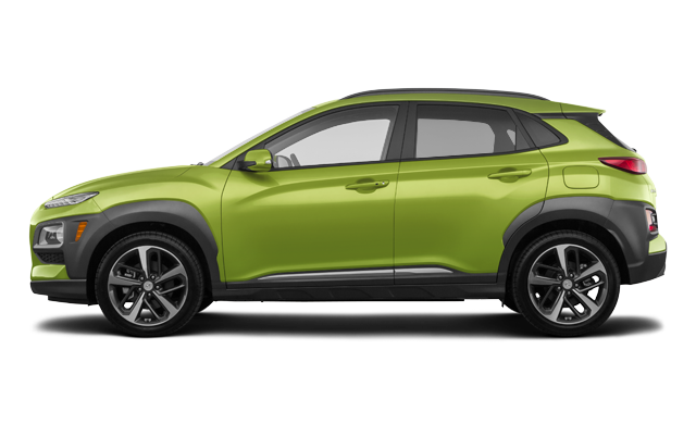 Hyundai Kona ULTIMATE Black with Lime Trim 2019