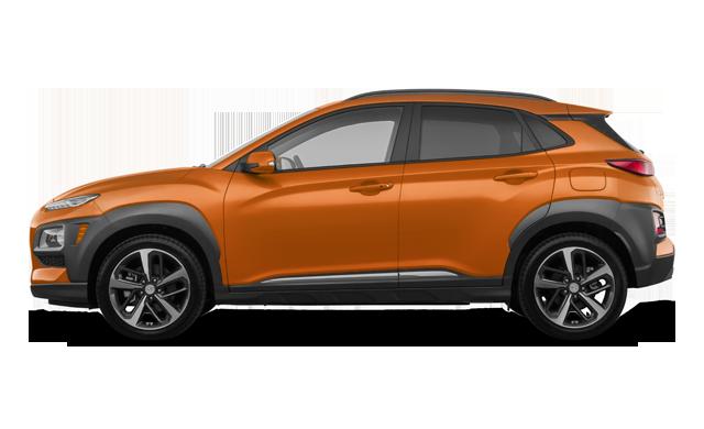 Hyundai Kona Ultimate Noir avec ensemble couleur orange 2020